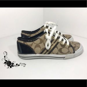 Coach Sneakers with Patent Leather Heel